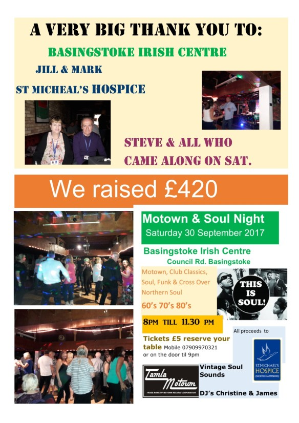 30 Sept Charity Night St Micheal's Hospice