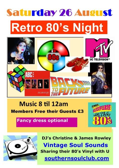 Retro 80's Railway Club Vintage Soul Sounds