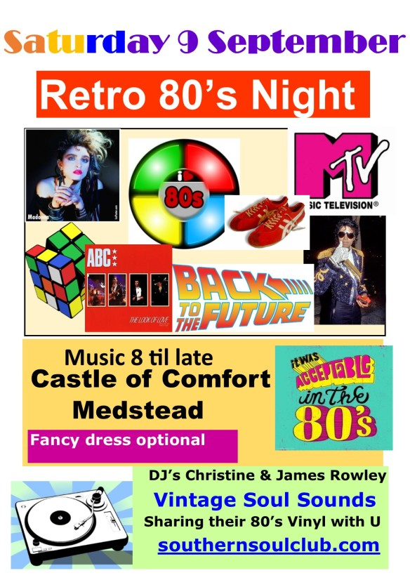Retro 80's Castle of Comfort Medstead 9 September