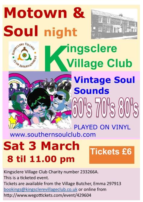 Motown & Soul Kingsclere Village Club
