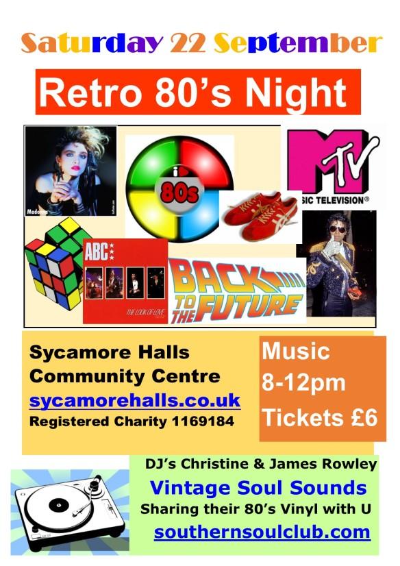 Retro 80's Sycamore Halls Community Centre