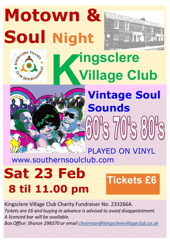 motown & soul kingsclere village club 23 feb