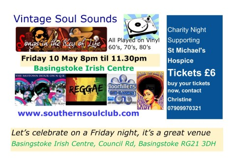 Friday 10 May Basingstoke Irish Centre