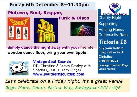 Friday 6th Motown December HHCR