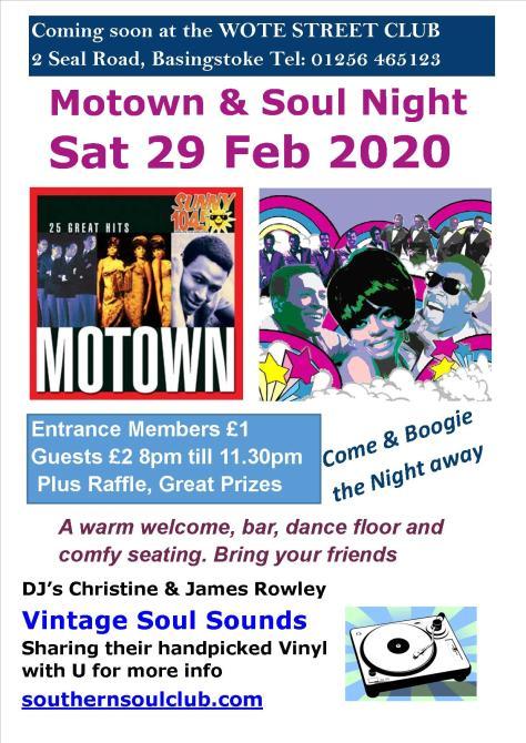 Motown & Soul 29 Feb